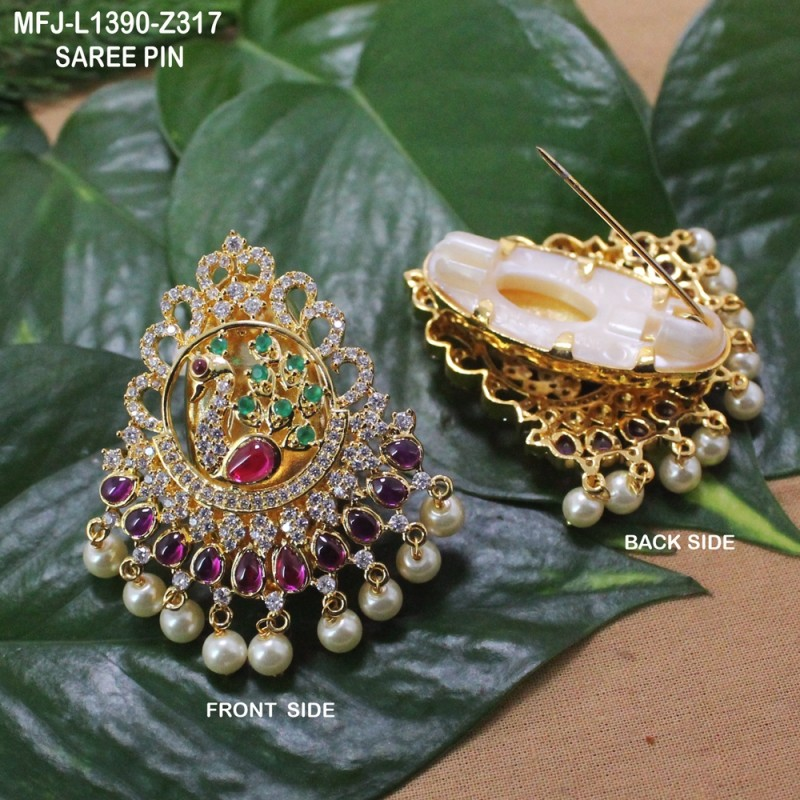 Green & Golden Colour Beads With Golden Colour Polished Flower ...
