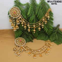 CZ Stones Flowers, Leaves & Drops Design Gold Plated Finish Necklace Set Buy Online