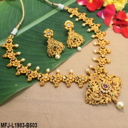 CZ, Ruby & Honey Colour Stones Flowers & Leaves Design Gold Plated Finish 3 Set Saree Pin Buy Online