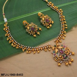 CZ & Honey Colour Stones Flowers & Leaves Design Gold Plated Finish 3 Set Saree Pin Buy Online