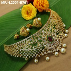 Honey Colour Stones Flowers & Leaves Design Gold Plated Finish 2 Set Saree Pin Buy Online