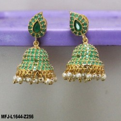 Kempu Stones Flowers Design With Pearls Drops Mat Finish Headset Buy Online