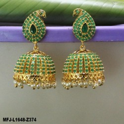 Kempu Stones Flowers & Thilakam Design With Pearl Mat Finish Headset Buy Online