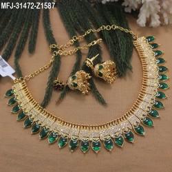 Ruby & Emerald Stones Lakshmi & Peacock Design Mat Finish Bracelet Buy Online