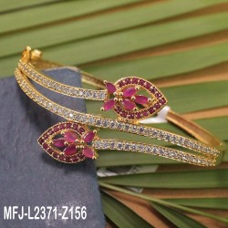 Ruby Stones Flowers Design With Pearl Drop Gold Plated Finish Jumki Buy Online