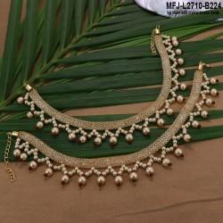 CZ, Ruby & Emerald Stones Flower Design Mat Finish Bracelet Buy Online