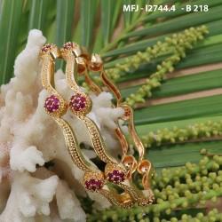 CZ Stones Flowers & Leaves Design With Balls Drops Mat Finish Jumki Buy Online