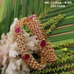 Ruby Stones Flowers & Leaves Design With Balls Drops Mat Finish Jumki Buy Online