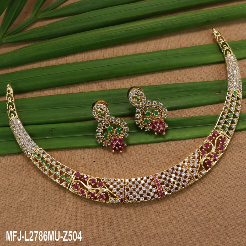 138d1e723 ... Choker Necklace Set Buy Online. CZ