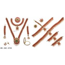 Ruby & Emerald Stones Lakshmi, Jumki & Peacock Design Mat Finish Hair Pin Buy Online