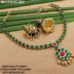 Ruby Stones Peacock, Flowers & Jumki Design With Pearls Drops Mat Finish Earrings Buy Online