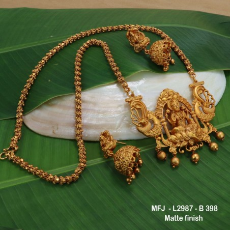 CZ & Ruby Stones Leaves & Thilakam Design With Pearls Drops Mat Finish Jumki Buy Online