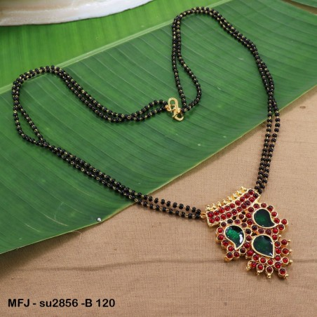 Ruby & Emerald Stones Flowers & Leaves Design With Pearls Drops Mat Finish Jumki Buy Online