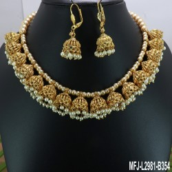 Ruby Stones Peacock & Flowers Design With Balls Drops Antique Finish Jumki Buy Online