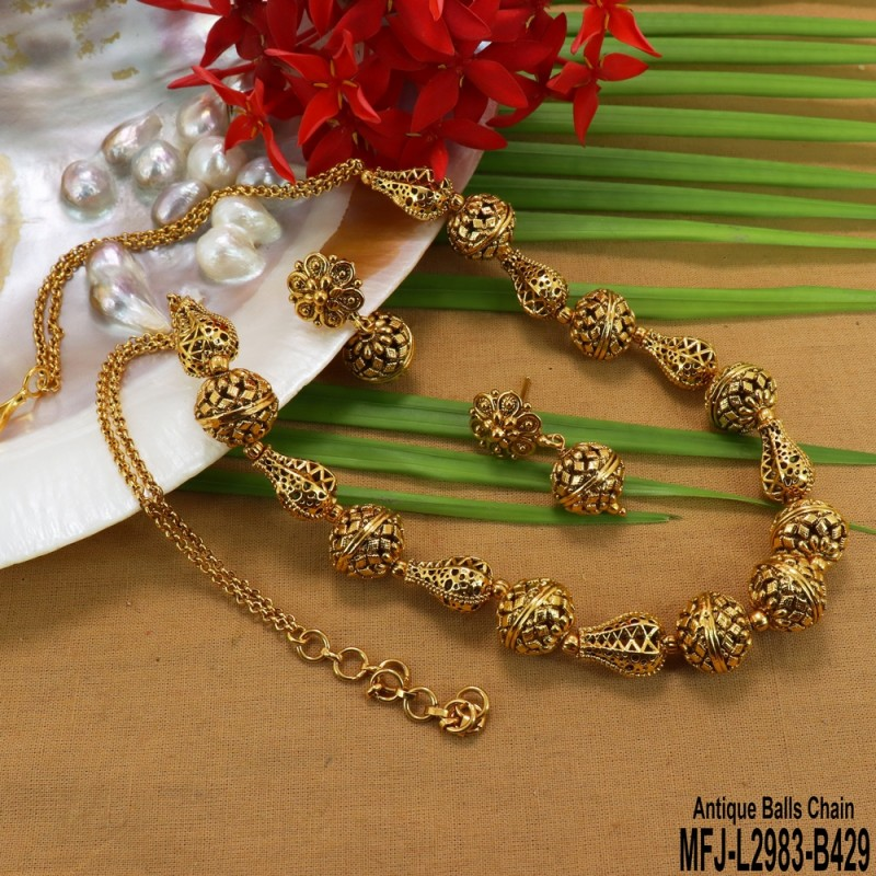 Ruby Stones Peacock & Flowers Design Gold Plated Finish Necklace Buy Online