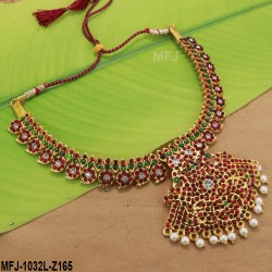 2.6 Size Kempu Stones Leaves Design Gold Plated Finish Two Set Bangles Buy Online