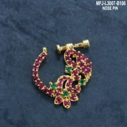 2.4 Size Ruby & Emerald Stones Flowers & Leaves Design Mat Finish Four Set Bangles Buy Online