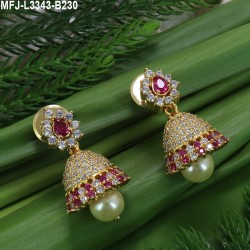 Ruby Stones Lakshmi & Peacock Design With Pearls Drops Mat Finish Haram Set Buy Online