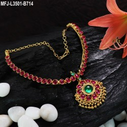 2.4 Size Ruby & Emerald Stones Designer Mat Finish Two Set Bangles Buy Online