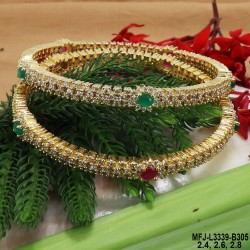 2.4 Size Kempu Stones Designer Antique Two Set Bangles Buy Online