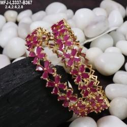 CZ, Ruby & Emerald Stones Designer Gold Plated Finish Jumki Buy Online