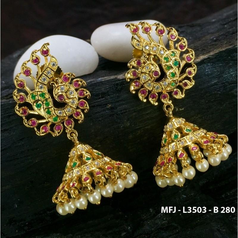 Bharatanatyam-Indian-Dance-jewellery-1gm gold-CZ jewellery ...