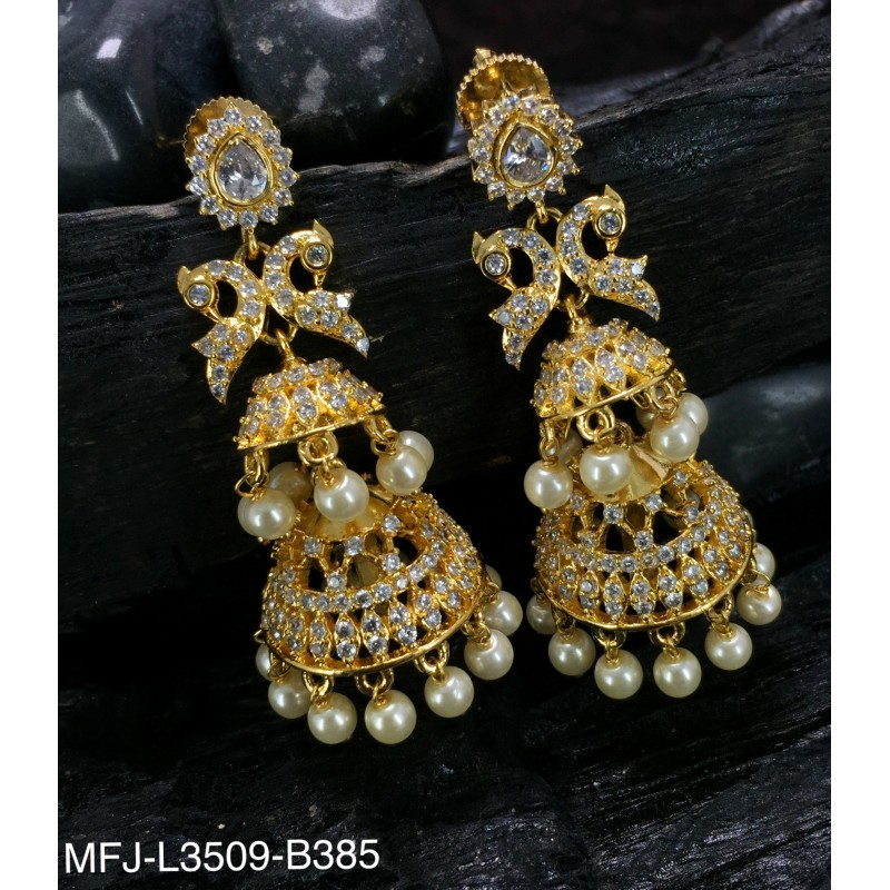 High Quality Kempu & CZ Stones Designer Necklace For Bharatanatyam Dance And Temple Buy Online