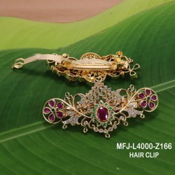 CZ, Ruby & Emerald Stones With Balls Drops Flowers & Leaves Design Mat Finish Necklace Set Buy Online