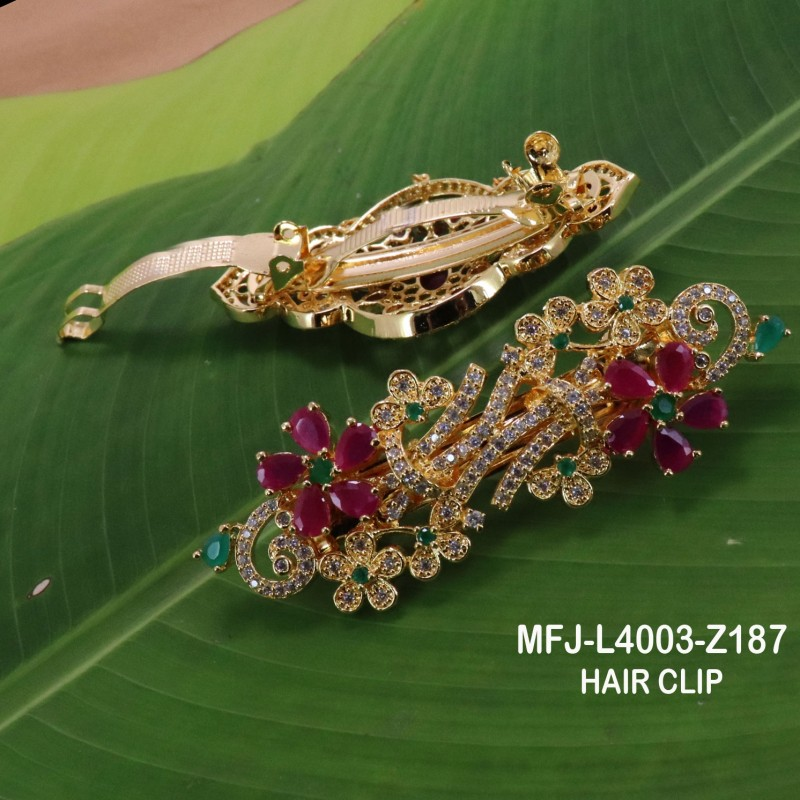 CZ & Emerald Stones With Pearls Designer Mat Finish Choker Necklace Set Buy Online