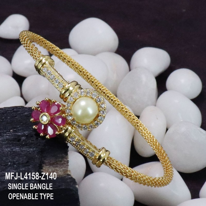 CZ & Ruby Stones With Pearls Drops Peacock, Flowers & Leaves Design Mat Finish Haram Set Buy Online