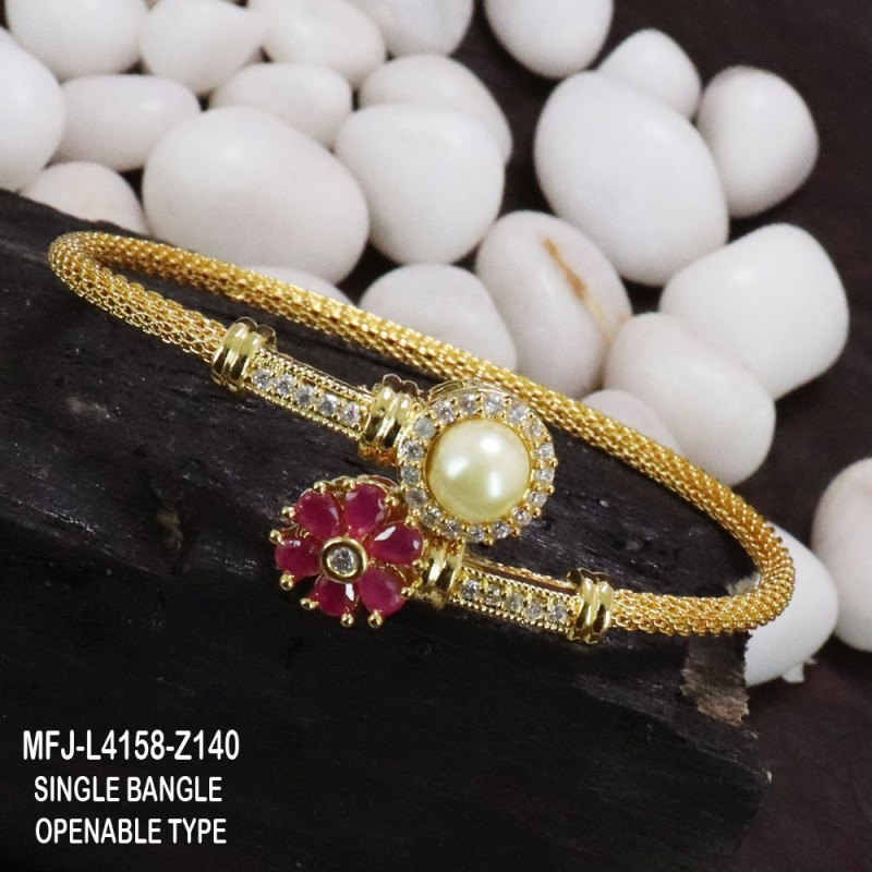 CZ, Ruby & Emerald Stones With Pearls Drops Flowers & Leaves Design Mat Finish Haram Set Buy Online