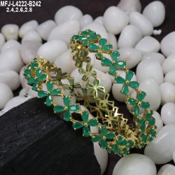 Green Colour Beads With Golden Colour Polished Kempu Stones Ball Chain Buy Online