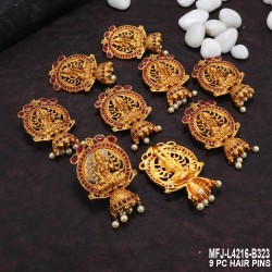 CZ Stones Flowers & Jumki Design With Balls Drops Antique Finish Hair Pin Buy Online