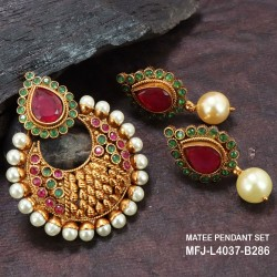 Ruby Stones Flowers Design With Pearls Drops Gold Plated Finish Jumki Buy Online