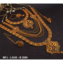 Emerald Stones Flowers Design With Pearls Drops Gold Plated Finish 3 Step Jumki Buy Online