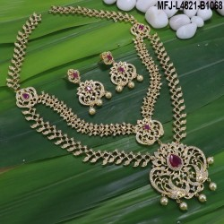 Kempu Stones Balls, Leaves & Flowers Design Mat Finish Anklet Set Buy Online