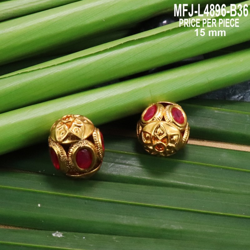 CZ & Ruby Stones Flowers Design Gold Plated Finish Earrings Buy Online