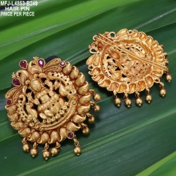 High Quality Kempu & CZ Stones With Pearls Flowers & Mango Design Headset For Bharatanatyam Dance And Temple Buy Online