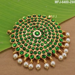 Ruby Stones With Balls Drops Peacock, Flowers & Leaves Design Mat Finish Hip Belt Buy Online