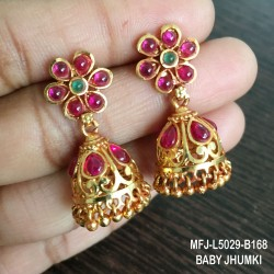 Black Thread With Ruby & Emerald Stones Flowers Design 1 Gram Gold Dipped Small Pendants Thread Necklace Set Buy Online