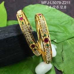Kempu Stone Traditional Design Necklace -Temple Necklace - Dance Jewellery Online
