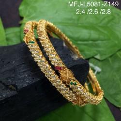 Kempu Stones Pearl Beads Temple Haram - Kempu Stones Pendant - Dance Jewellery Online