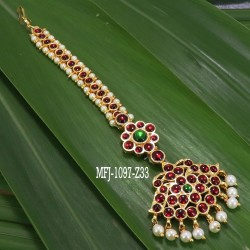 Kempu Stones Leaves Design Necklace For Bharatanatyam Dance And Temple Buy Online