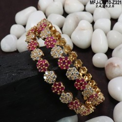 Ruby Stones Mat Finish Flowers Design Kum Kum Box Buy Online