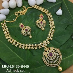 Kempu & Multicolour Stones With Pearls Moon Shaped 5 Step Head Set For Bharatanatyam Dance And Temple Buy Online