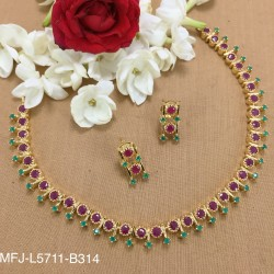 Kempu Stones Thilakam Design Mat Finish Anklet Set Buy Online