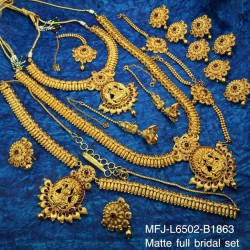 Ruby Stones Flowers Design Gold Plated Finish Necklace Set Buy Online