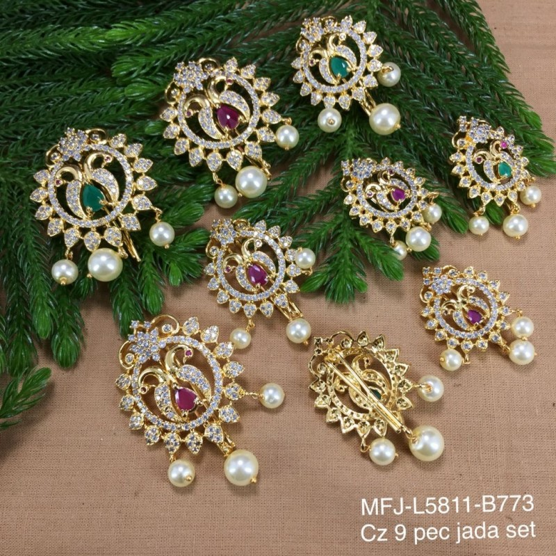 1 Gram Gold Dipped Ruby & Emerald Stones Flower Design Deepam Stand Buy Online