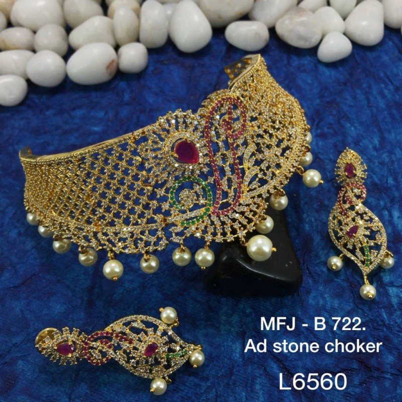 1 Gr Gold Dipper Ruby & Emerald Stones With Perls Lakshmi Pipe Designed KumKum Box Online