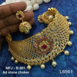Ruby & Emerald Stones With Perls Lakshmi Pipe Designed KumKum Box Online